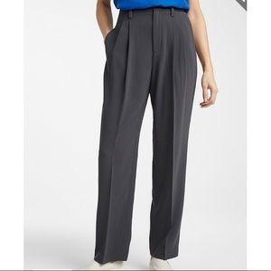 STRAIGHT-LEG GREY DRESS-PANTS